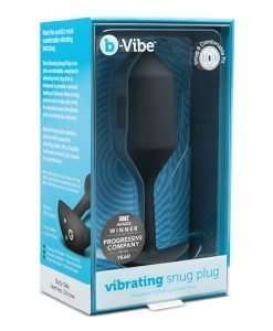 b-Vibe Vibrating Weighted Snug Plug XL - 247 g Black
