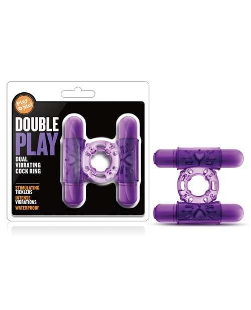 Blush Play With Me Double Play Dual Vibrating Cockring - Purple