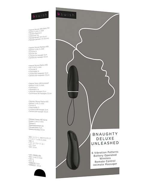 Bnaughty Deluxe Unleashed Bullet - Black