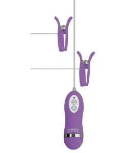 GigaLuv Vibro Clamps - 10 Functions Purple
