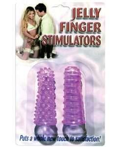 Jelly Finger Stimulators - Purple