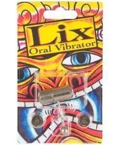 Lix Oral Vibrator Tongue Ring - Chrome