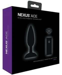 Nexus Ace Remote Control Butt Plug Small - Black