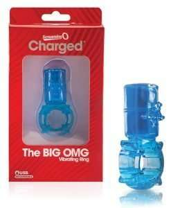 Screaming O Big OMG Vibrator Ring - Blue