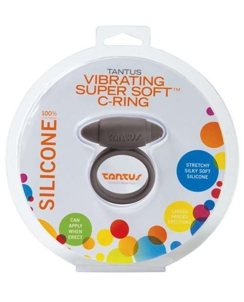 Tantus Vibrating Super Soft C Ring - Black