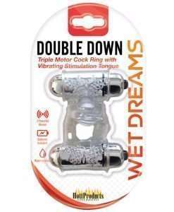 Wet Dreams Double Down Vibrating Cockring w/Bullet
