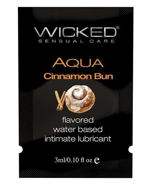 Wicked Sensual Care Aqua Water Based Lubricant - .1 oz Cinnamon Bun