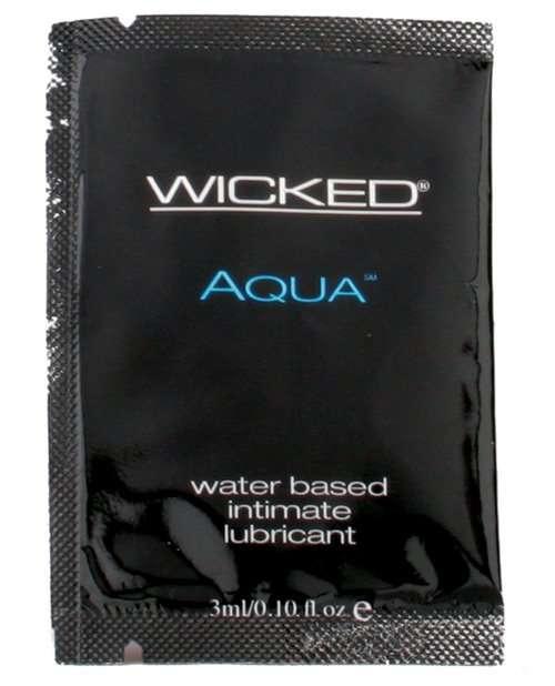 Wicked Sensual Care Aqua Waterbased Lubricant - .1 oz Fragrance Free