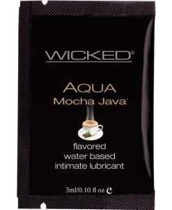 Wicked Sensual Care Aqua Water Based Lubricant - .1 oz Mocha Java