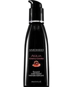 Wicked Sensual Care Aqua Water Based Lubricant - 2 oz Cherry Cordial