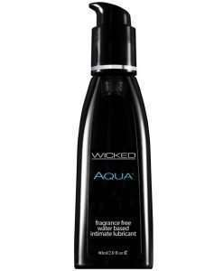 Wicked Sensual Care Aqua Waterbased Lubricant - 2 oz Fragrance Free