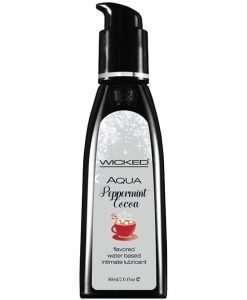 Wicked Sensual Care Aqua Water Based Lubricant - 2 oz Peppermint Cocoa