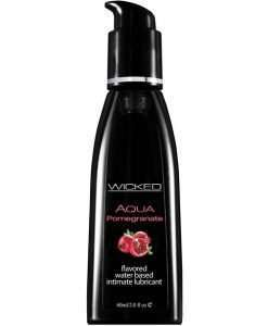 Wicked Sensual Care Aqua Water Based Lubricant -  2 oz Pomegranate