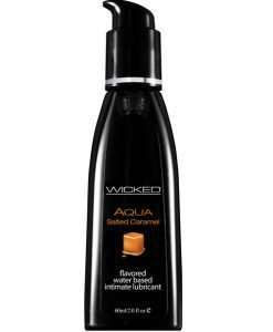 Wicked Sensual Care Aqua Water Based Lubricant - 2 oz Salted Caramel