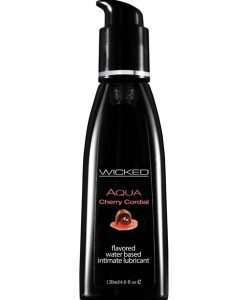 Wicked Sensual Care Aqua Water Based Lubricant - 4 oz Cherry Cordial