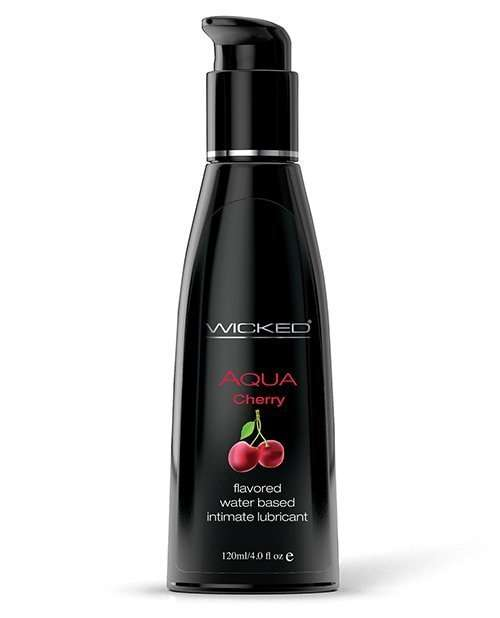 Wicked Sensual Care Aqua Water Based Lubricant - 4 oz Cherry