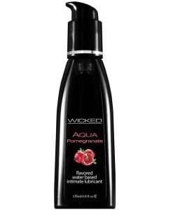 Wicked Sensual Care Aqua Waterbased Lubricant - 4 oz Pomegranate