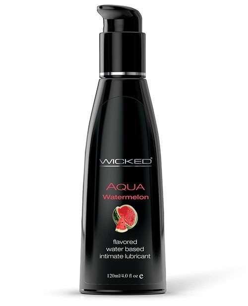Wicked Sensual Care Aqua Water Based Ludricant - 4 oz Watermelon