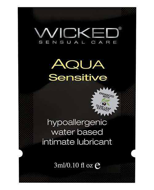 Wicked Sensual Care Hypoallergenic Aqua Sensative Water Based Lubericant - .1 oz