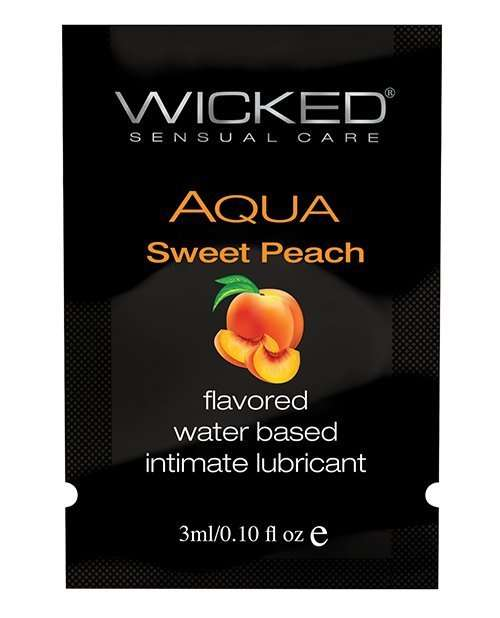 Wicked Sensual Care Water Based Lubricant - .1 oz Sweet Peach