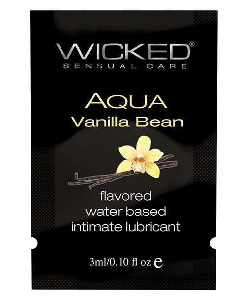 Wicked Sensual Care Water Based Lubricant - .1 oz Vanilla Bean