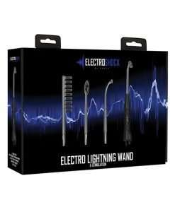 Shots Electroshock Lightning Wand - Black