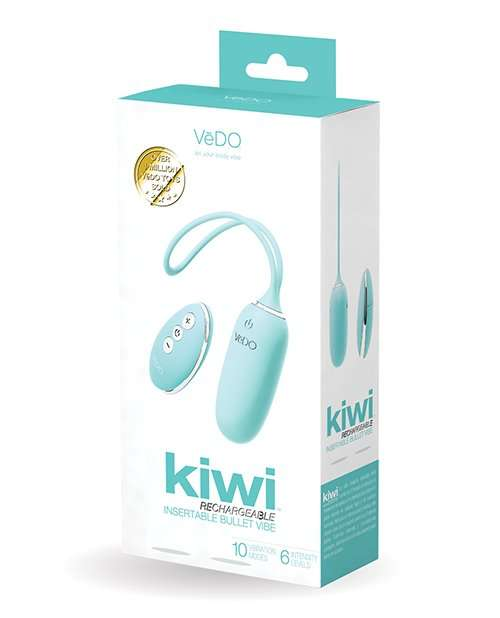 VeDO KIWI Rechargeable Insertable Bullet - Tease Me Turquoise