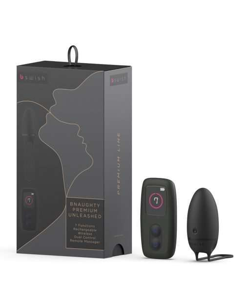 Bnaughty Premium Unleashed Remote Control Bullet - Noir