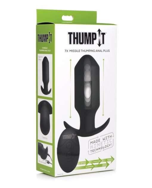 Thump It Thumping 7x Missile Anal Plug - Black