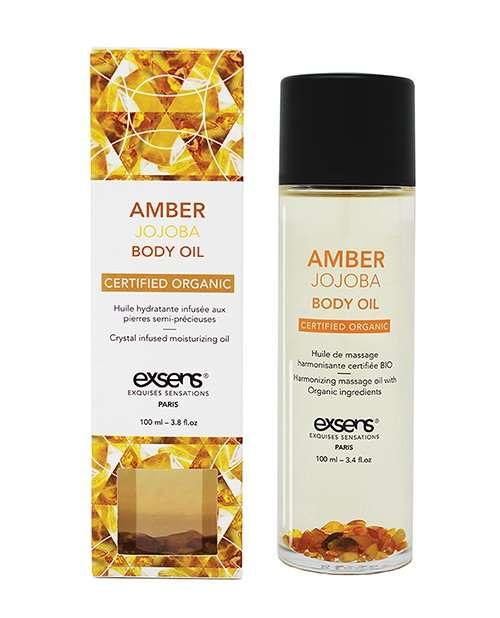 EXSENS Organic Body Oil w/Stones -  Amber Jojoba 100 ml