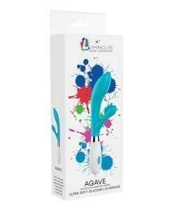 Shots Luminous Agave Silicone 10 Speed Rabbit - Turquoise