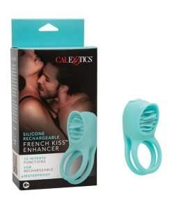 Couple's Enhancers Silicone Rechargeable French Kiss Enhancer - Teal
